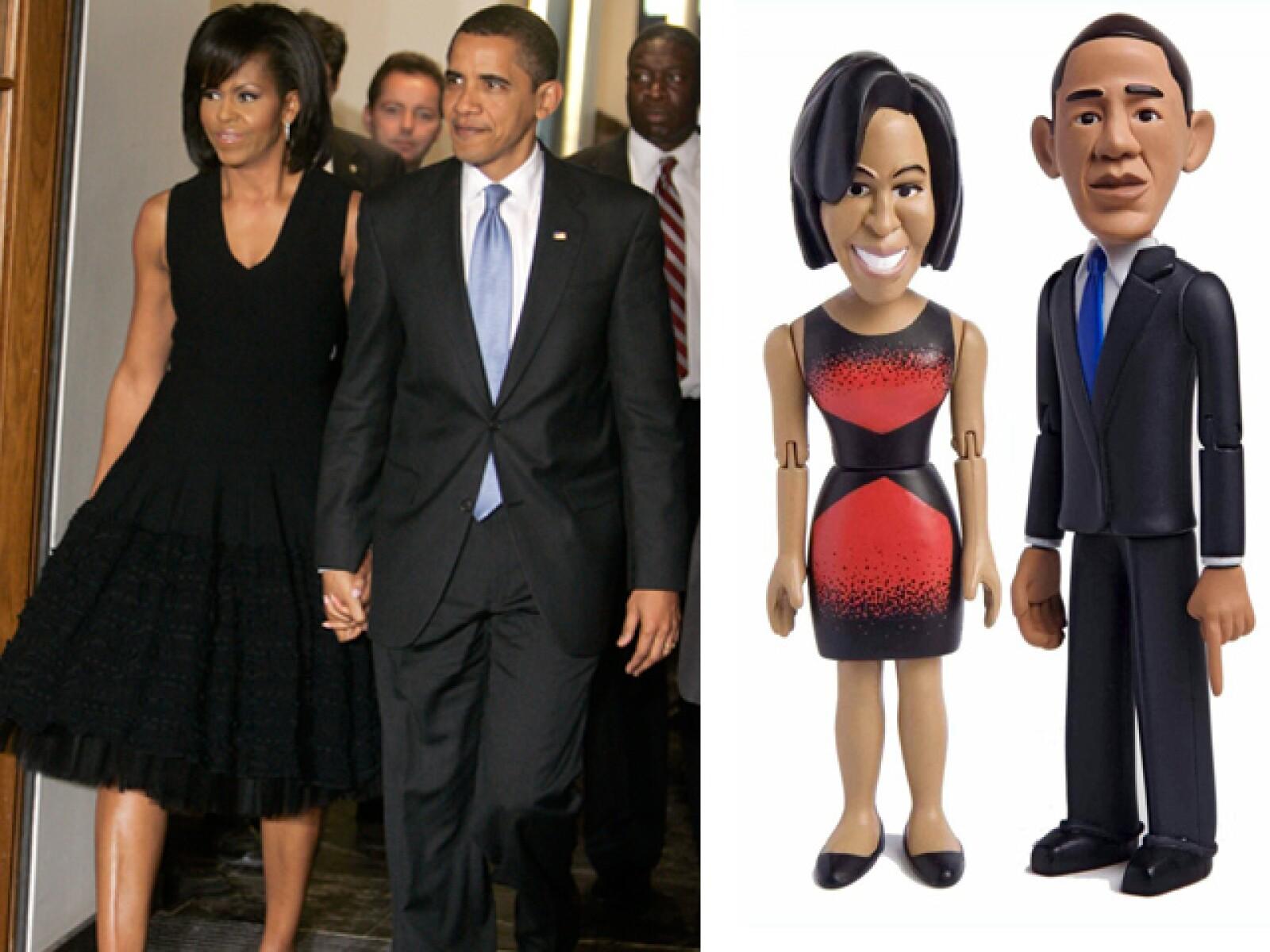 El Presidente Obama y su esposa son muy populares. Sus figuras son una muestra de ello. Son de los pocos políticos a los que la gente quiere llevar a casa.