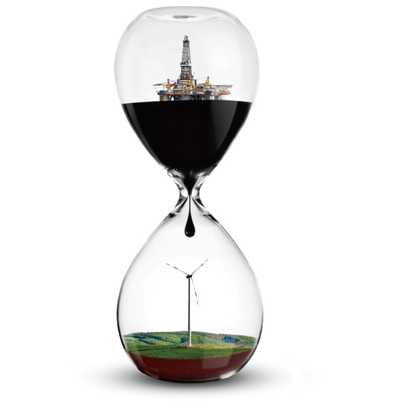 Reloj energías renovables