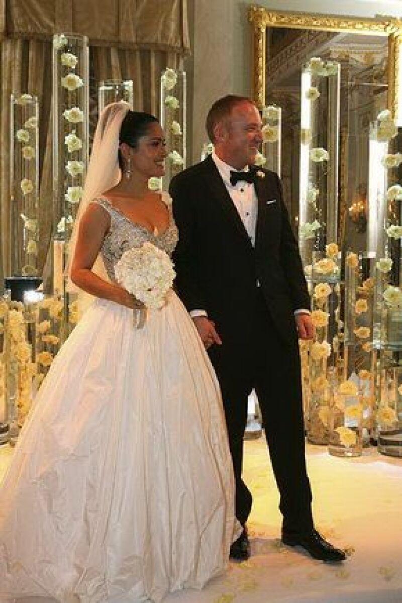 Pinault agradeció a Salma haberle dado una hija en la ceremonia. (Foto: AP