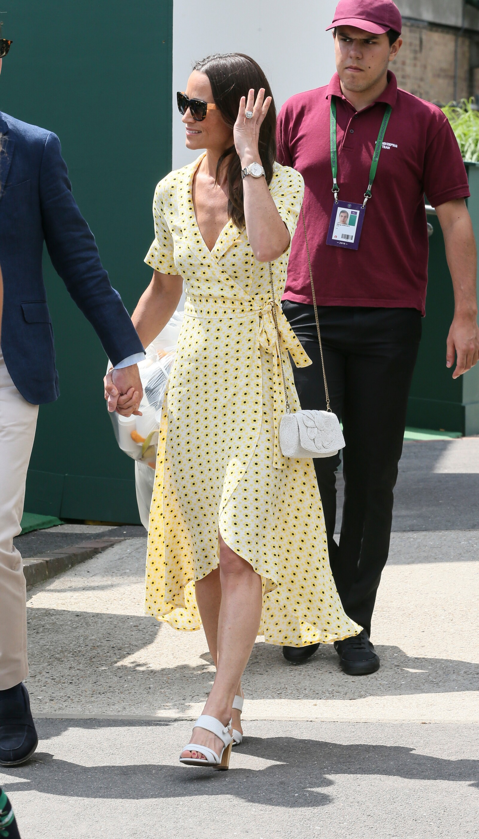 Celebrities arriving at Wimbledon, London, England, 12 July 2019