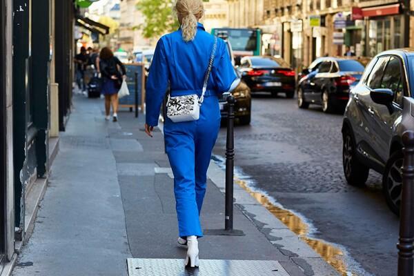 Street Style, Spring Summer 2019, Paris Fashion Week, France - 27 Sep 2018