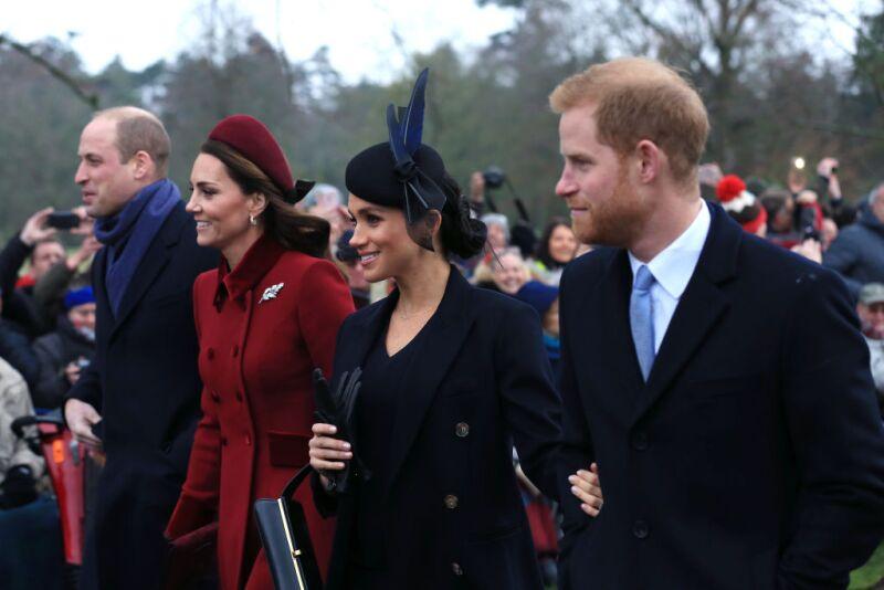La familia real en las celebraciones de la Navidad (Getty)