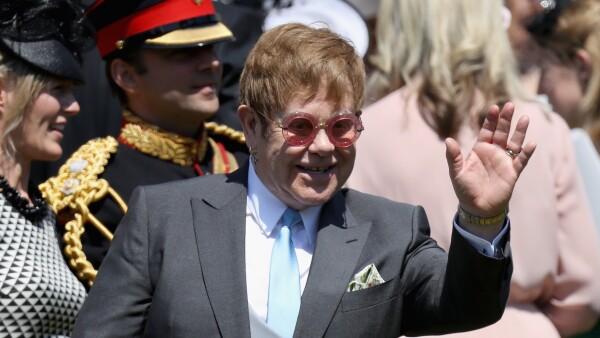 Elton John fue el encargado de dar el show en la boda de Meghan y Harry
