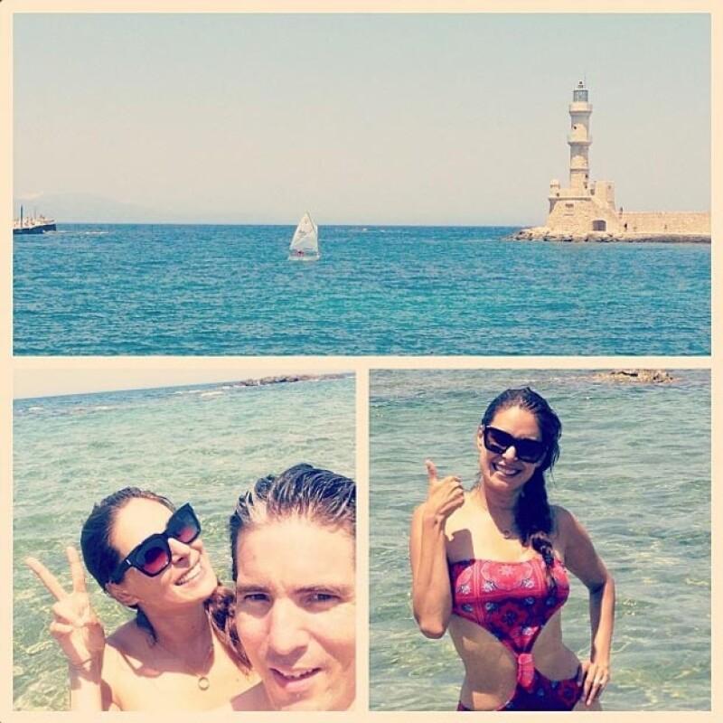 Galile y Fernando decidieron divertirse un rato en el mar.