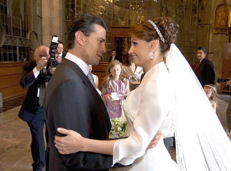 La boda. En 2010, Enrique Peña Nieto y Angélica Rivera se casaron.