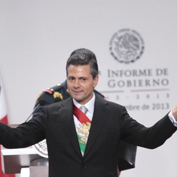 El presidente de México ofreció este lunes su mensaje con motivo del Primer Informe de Gobierno, donde destacó la importancia de las reformas fiscal y energética para impulsar el crecimiento económico.