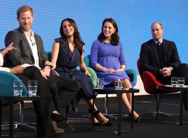 Kate, William, Meghan y Harry