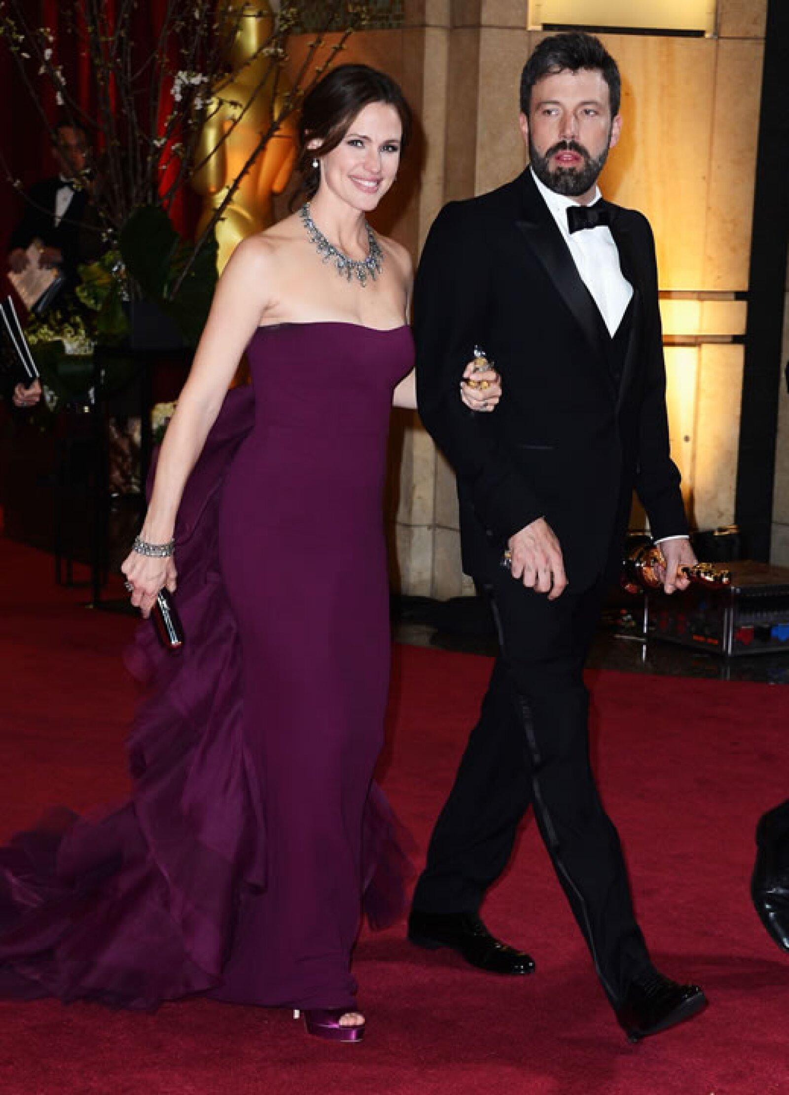 Ben y Jen eran de las parejas más esperadas de la noche.