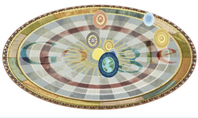 Google muestra el descubrimiento que le dio fama a Nicolás Copérnico. (Foto tomada de Google.com)