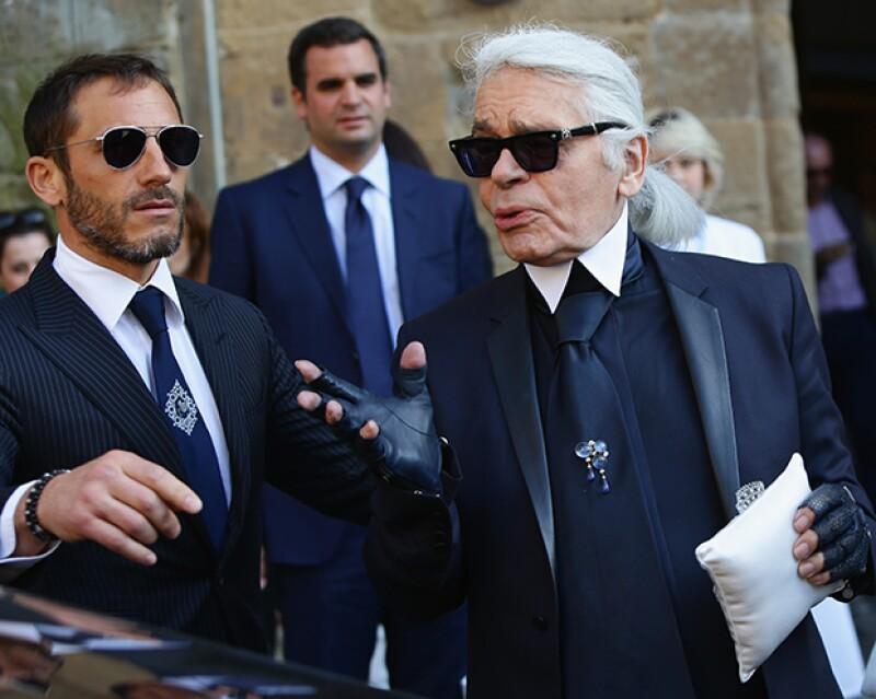 Sébastien Jondeau es el nombre del guardaespaldas de Karl Lagerfeld.