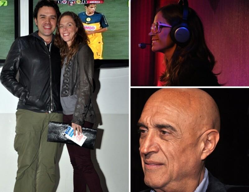 El productor Fernando Rovzar y su esposa, la actriz Claudia Cervantes y el productor Pedro Torres.