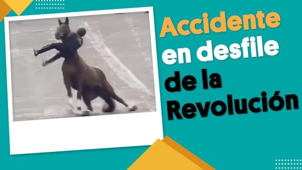 AMLO presencia accidente en desfile de la Revolución | #EnSegundos