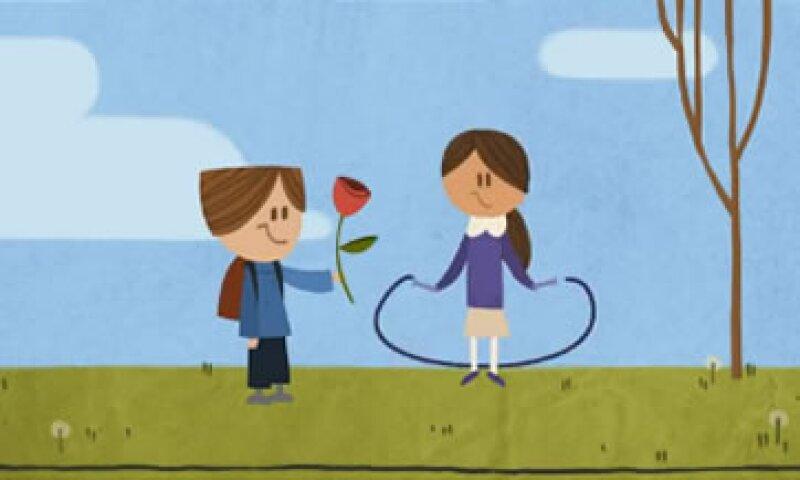 El doodle animado cuenta una historia de amor. (Foto: Especial)