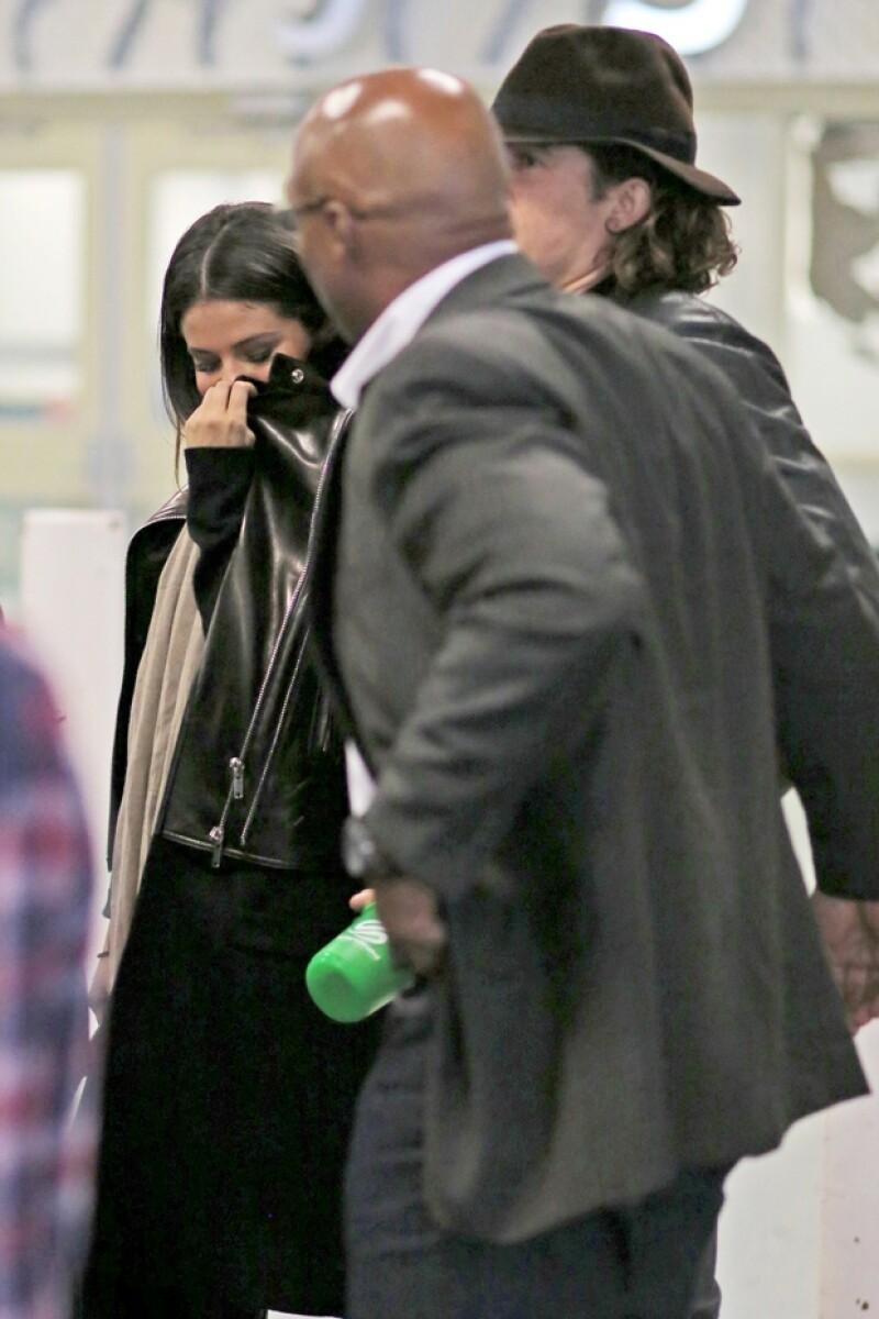 Los actores llegaron en el mismo avión a Vancouver, Canadá.