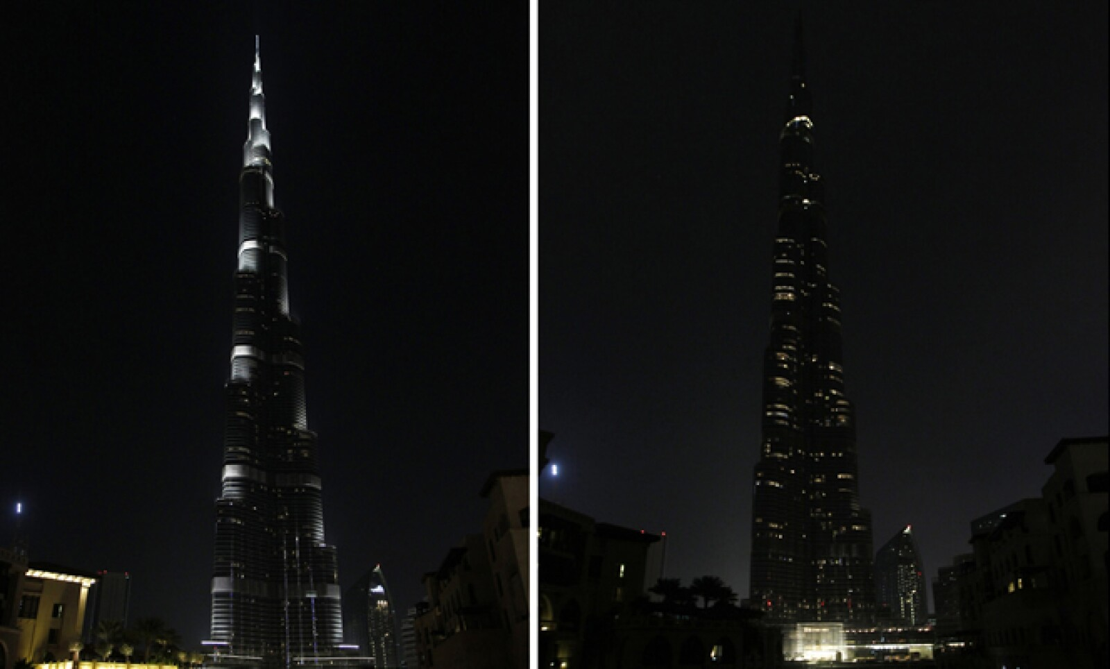 Aspecto del emblemático inmueble de los Emiratos Árabes Unidos, el Burj Khalifa. En 2012 el movimiento se extendió en 152 países.