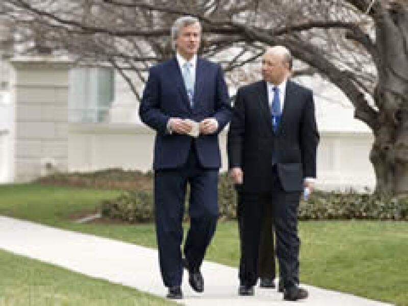 Jamie Dimon, de JP Morgan, y Lloyd C. Blankfein, de Goldman Sachs, acudieron a  la Casa Blanca. (Foto: Reuters)