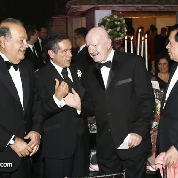 Carlos Slim, Daniel Goñi, Manuel Mondragón y Norberto Rivera