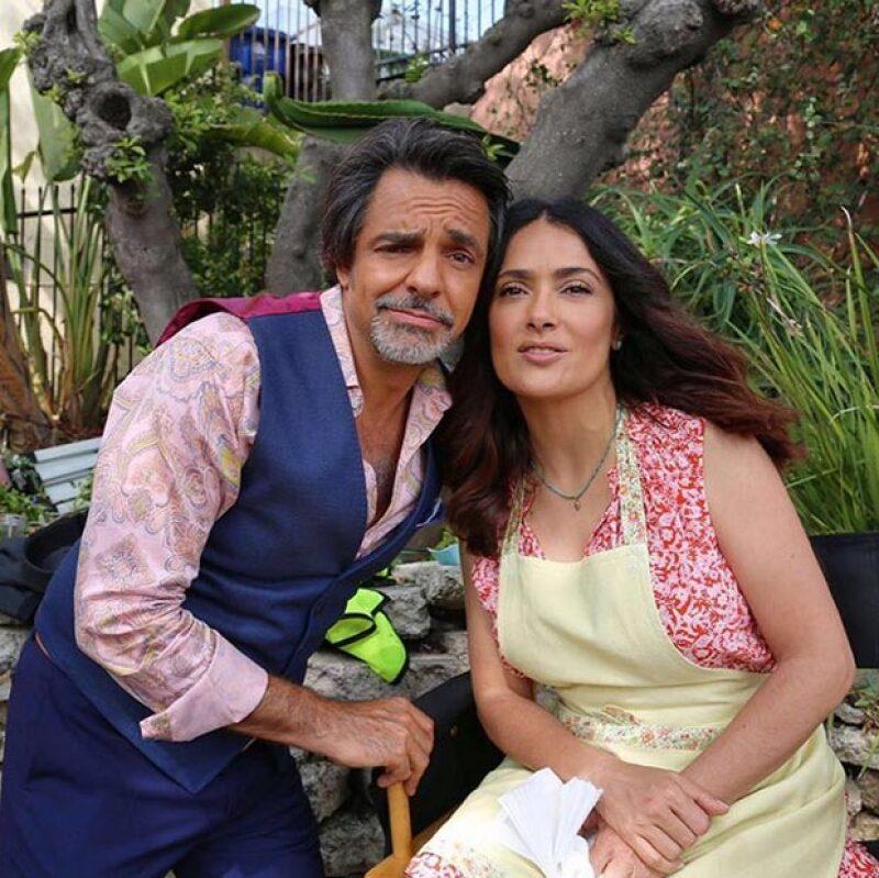 Salma y Eugenio se encuentran filmando una nueva película en la que también aparecerá Michael Cera y Kristen Bell.
