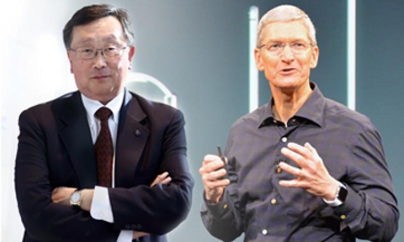 Cook ha logrado superar la sombra de Steve Jobs y Chen la mala reputación de BlackBerry. (Foto: Especial)