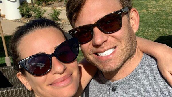 Lea Michele y su esposo Zandy Reich