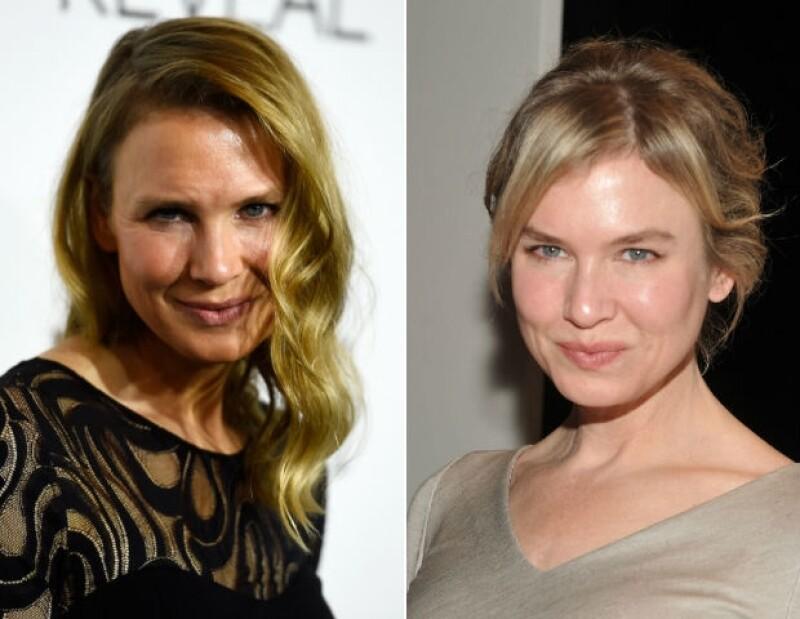 Una foto actual y una del pasado de la apariencia de la actriz británica. ¿Segura que no hubo visita al cirujano?