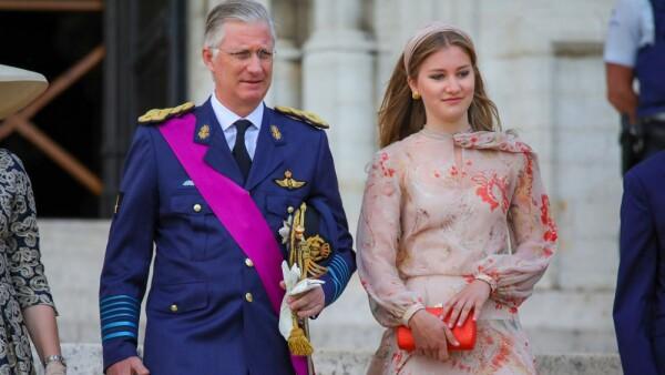 Rey Felipe I de Bélgica y la princesa Elisabeth