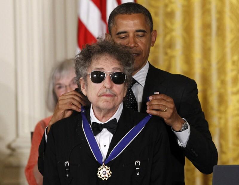 El presidente de EU entregó el martes la Medalla de la Libertad a más de una decena de personalidades culturales y políticas, entre ellas el rockero.