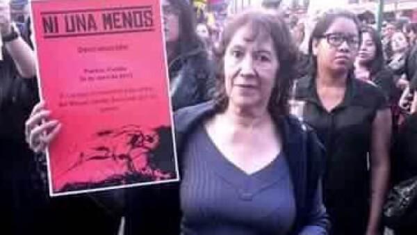 Familiares de víctimas y organizaciones defensores piden declarar alerta de género en Puebla. (Foto: Elvia Cruz/CNNExpansión)