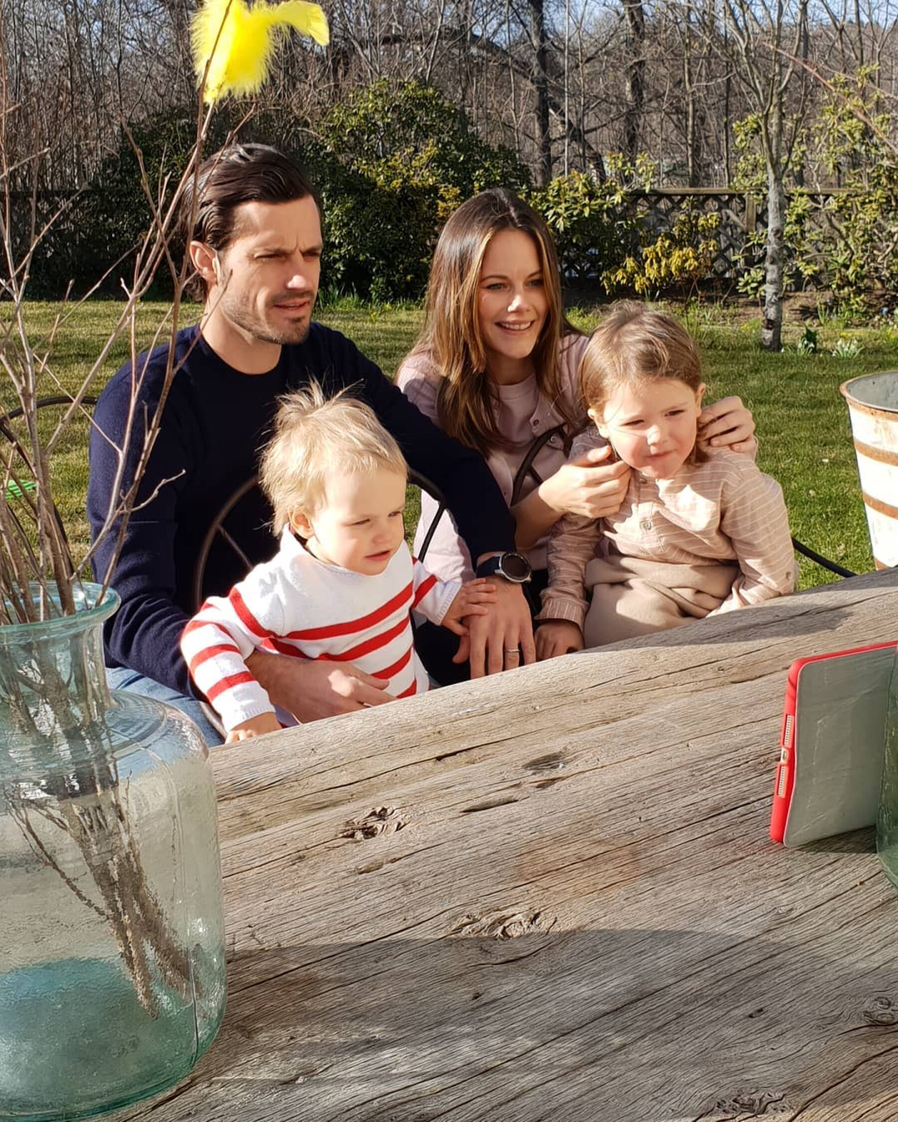 Príncipes Carlos Felipe, Gabriel, Sofía y Alejandro de Suecia