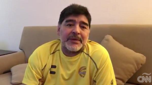 Maradona pide ayuda para Sinaloa y se compromete a firmar balones