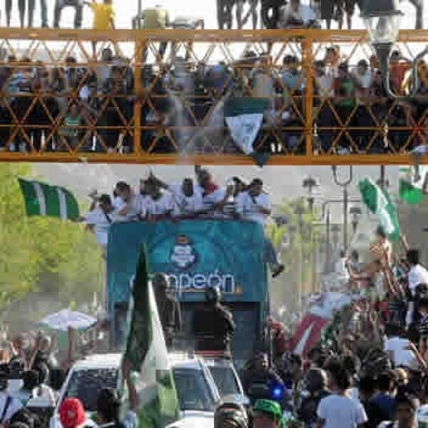 santos campeon desfile comarca laguna
