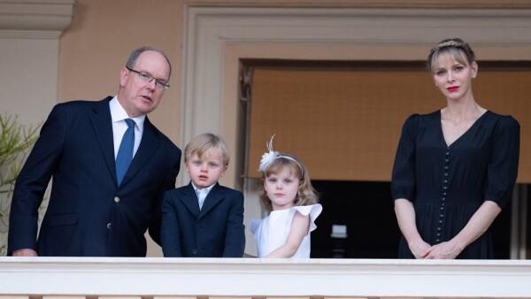 Príncipe Alberto, príncipe Jacques, princesa Gabrielle y Charléne de Mónaco