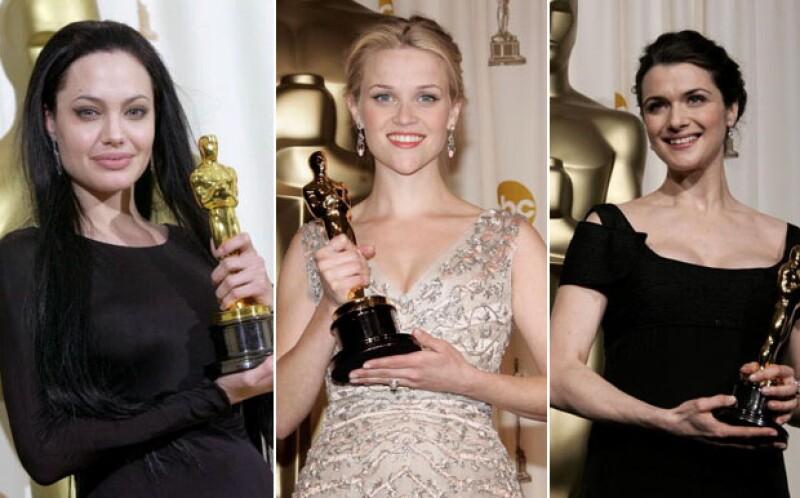 Angelina ganó un Oscar en 2000 y tres años después se divorció. Renée Zellweger ganó en 2004 y un año después anuló su matrimonio. Rachel Weisz rompió su matrimonio de 10 años cuatro años después de ganar..