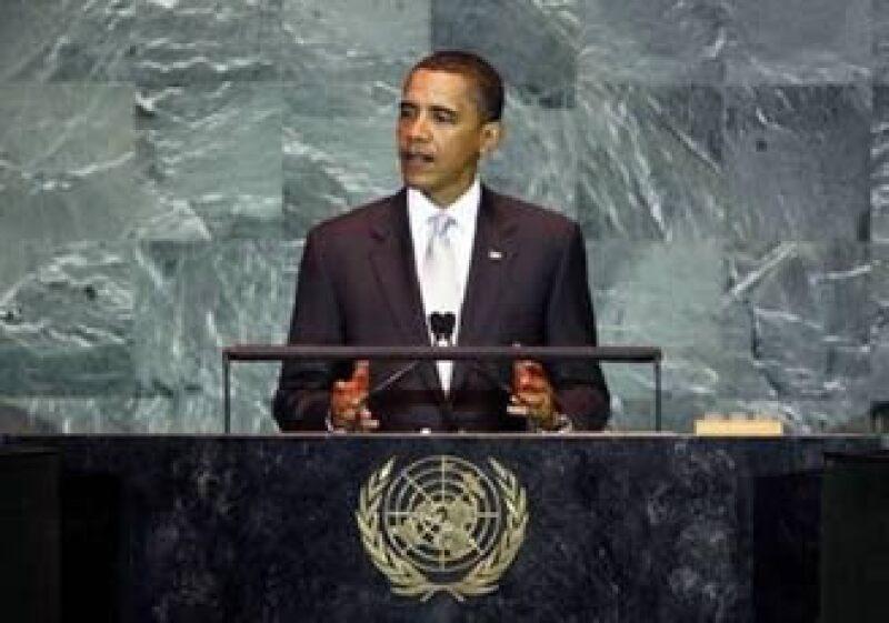 El mandatario de EU participa en la cumbre sobre calentamiento global de la ONU. (Foto: Reuters)