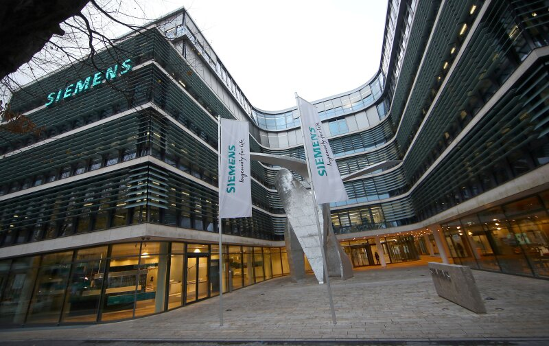FILE PHOTO: The headquarters of Siemens AG is seen before the company's annual news conference in Munich
