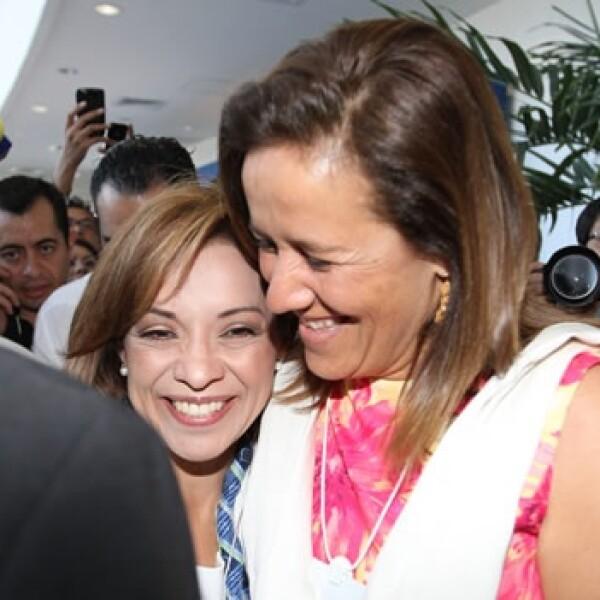 Vázquez Mota con Margarita Zavala en Foro Económico Mundial