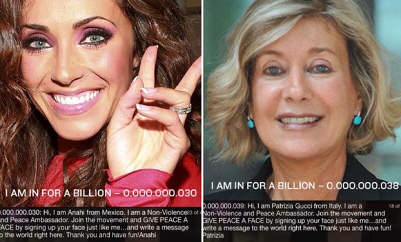 Anahí y otras personas reconocidas a nivel mundial muestran su rostro en el sitio oficial de la página.