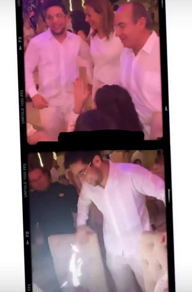Felipe Calderón en bodas de oro de papás de Mouriño 8.jpg