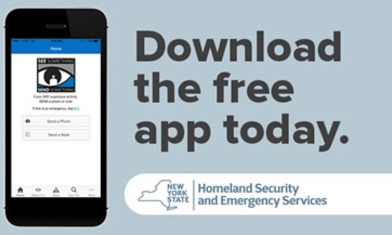 Las autoridades esperan que la aplicación móvil pueda ser pieza esencial en la lucha contra los terroristas (Foto: Twitter/@nyspolice )