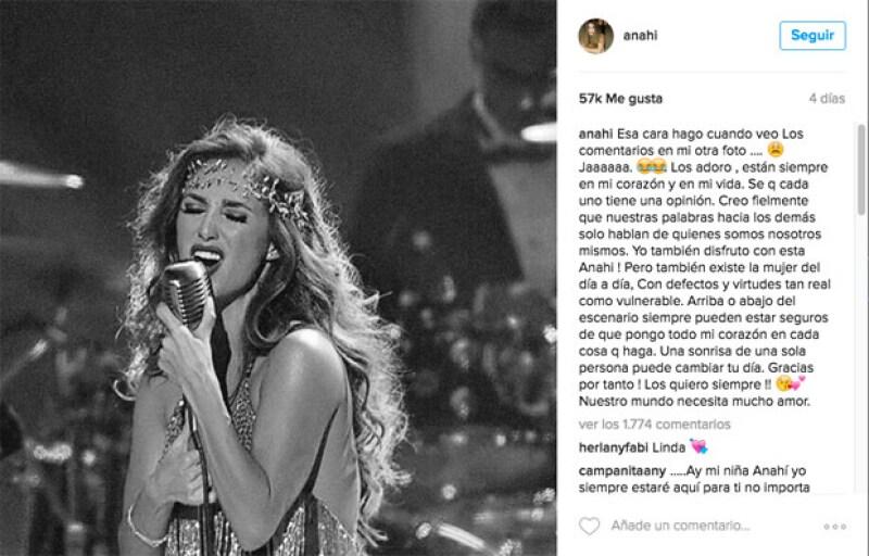 Después de publicar en Instagram una foto realizando labor social al lado de su esposo, la actriz y cantante emitió un mensaje en esta misma red social a todos los haters que la atacaron.