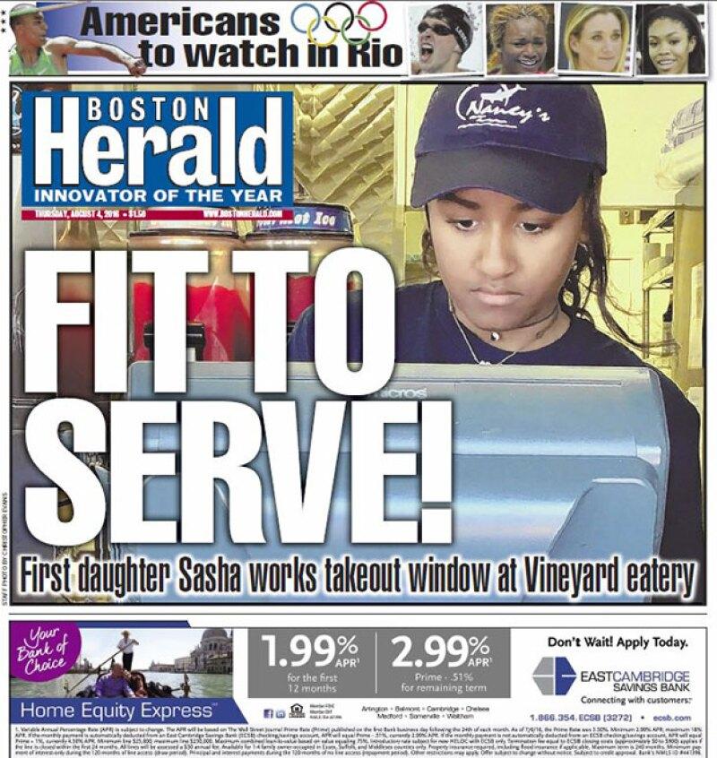 La menor de las hijas de Obama trabaja en un restaurante de mariscos para entender el valor y la importancia del trabajo.