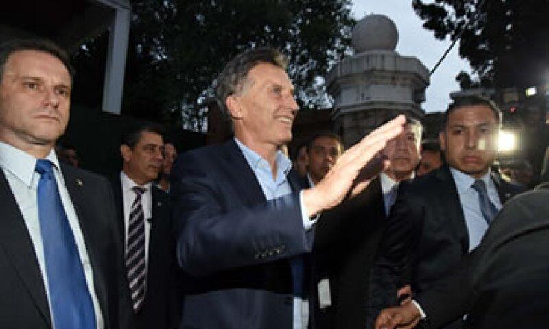 Macri, ingeniero de 56 años, ganó el domingo las elecciones presidenciales contra el peronista de centro Daniel Scioli. (Foto: AFP )