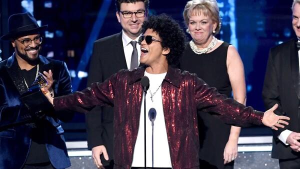 Bruno Mars, ganador de los Grammy 2018