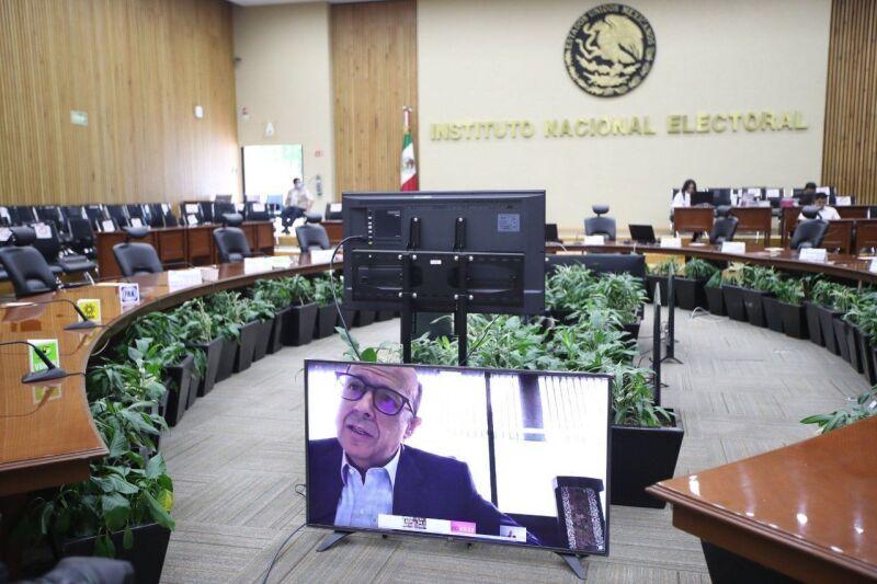 El consejo general del INE sesión de manera virtual