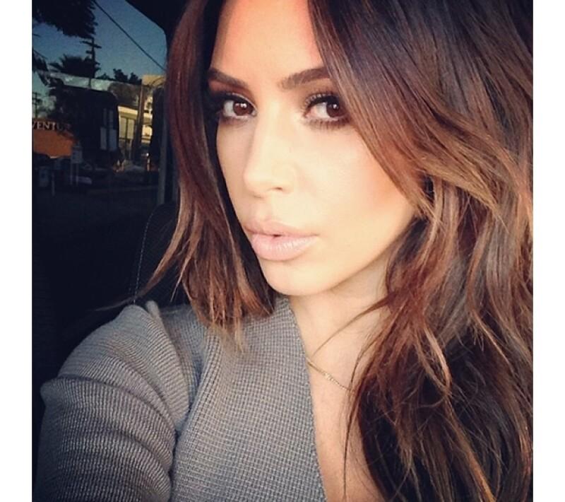 Kim compartió su felicidad por celebrar este día a lado de Kanye West.