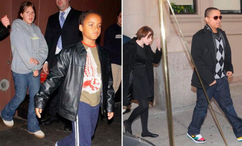 Isabella y Connor en el 2004 y cuatro años después, luego de que sus padres se divorciaran.