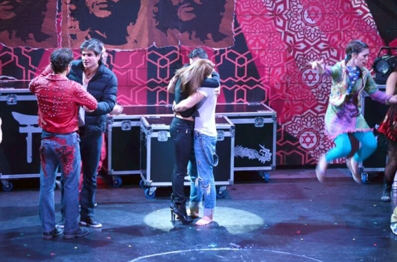 Irán asistió al reestreno de la obra de teatro Godspell, protagonizada por José Ron, quien se mostró agradecido por la asistencia de la actriz.