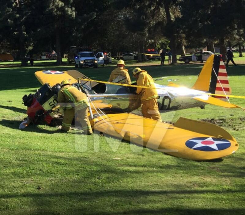 Estas son las imágenes de la avioneta después del accidente.