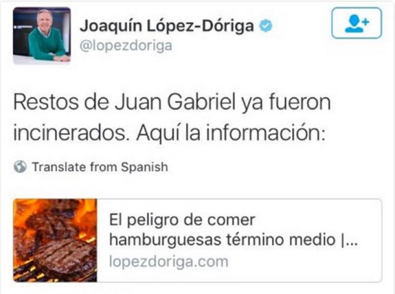 El periodista cometió en Twitter un error que muchos tomaron con gran sentido del humor.