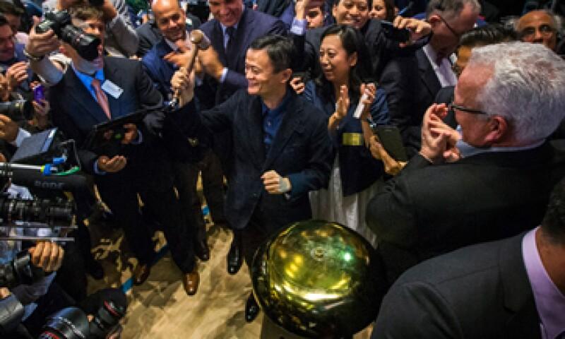 El fundador de Alibaba, Jack Ma, celebró el debut de su empresa en Wall Street. (Foto: Reuters)